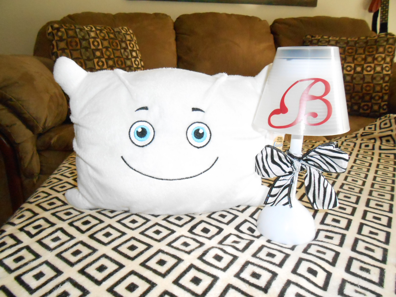 Sleep Sammy Is so excited about his new night night lamp!