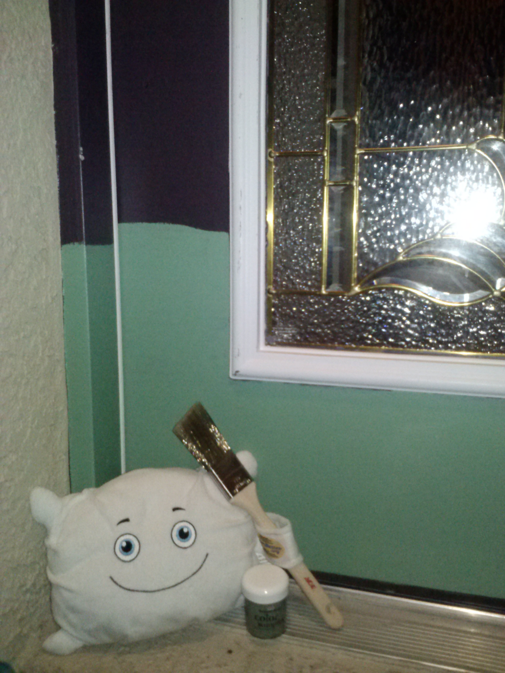 McStuffy is helping to choose our new front door color.