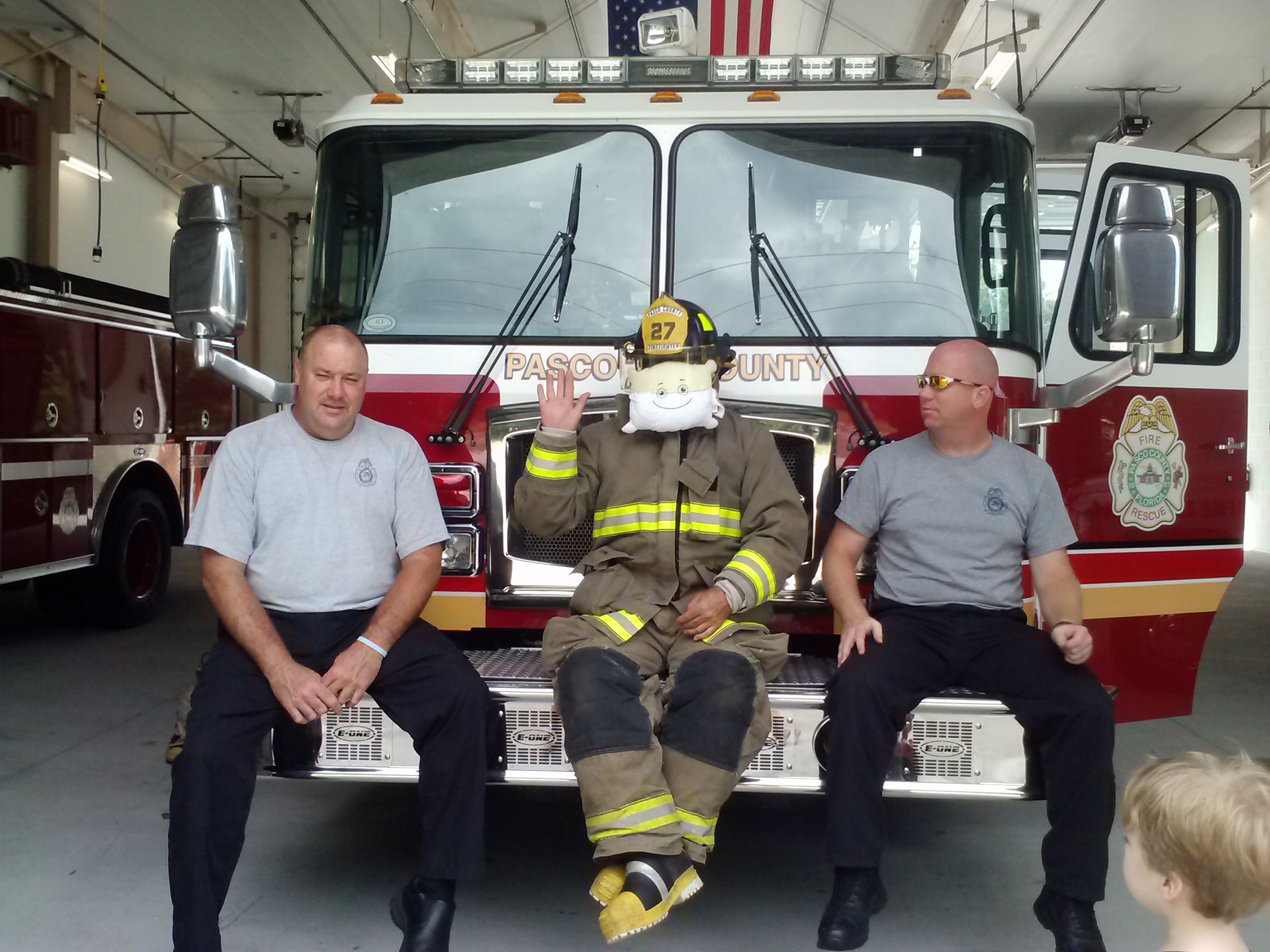 McStuffy visits the firehouse and meets firemen!