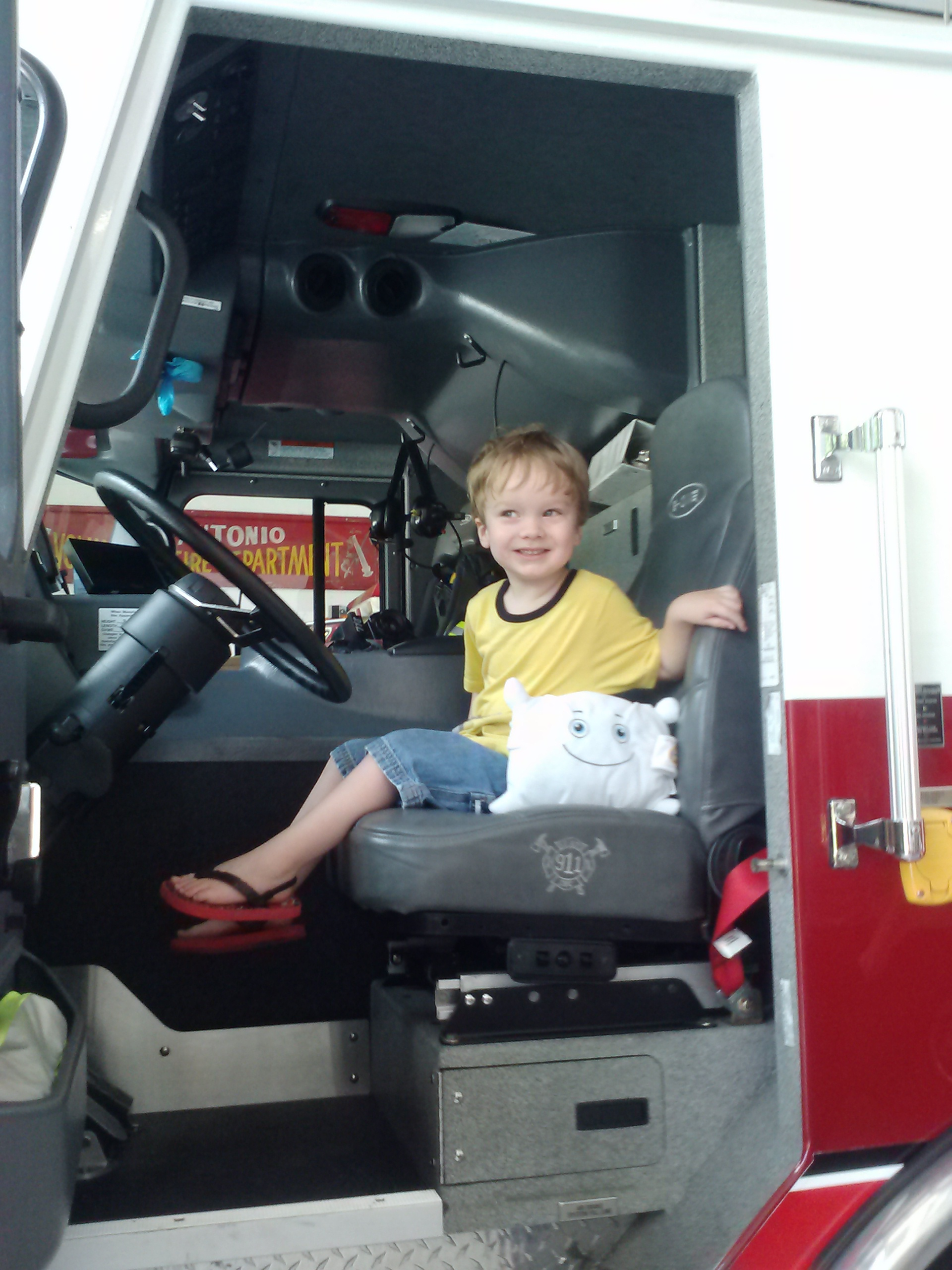 Always cool when you get to ride in the firetruck