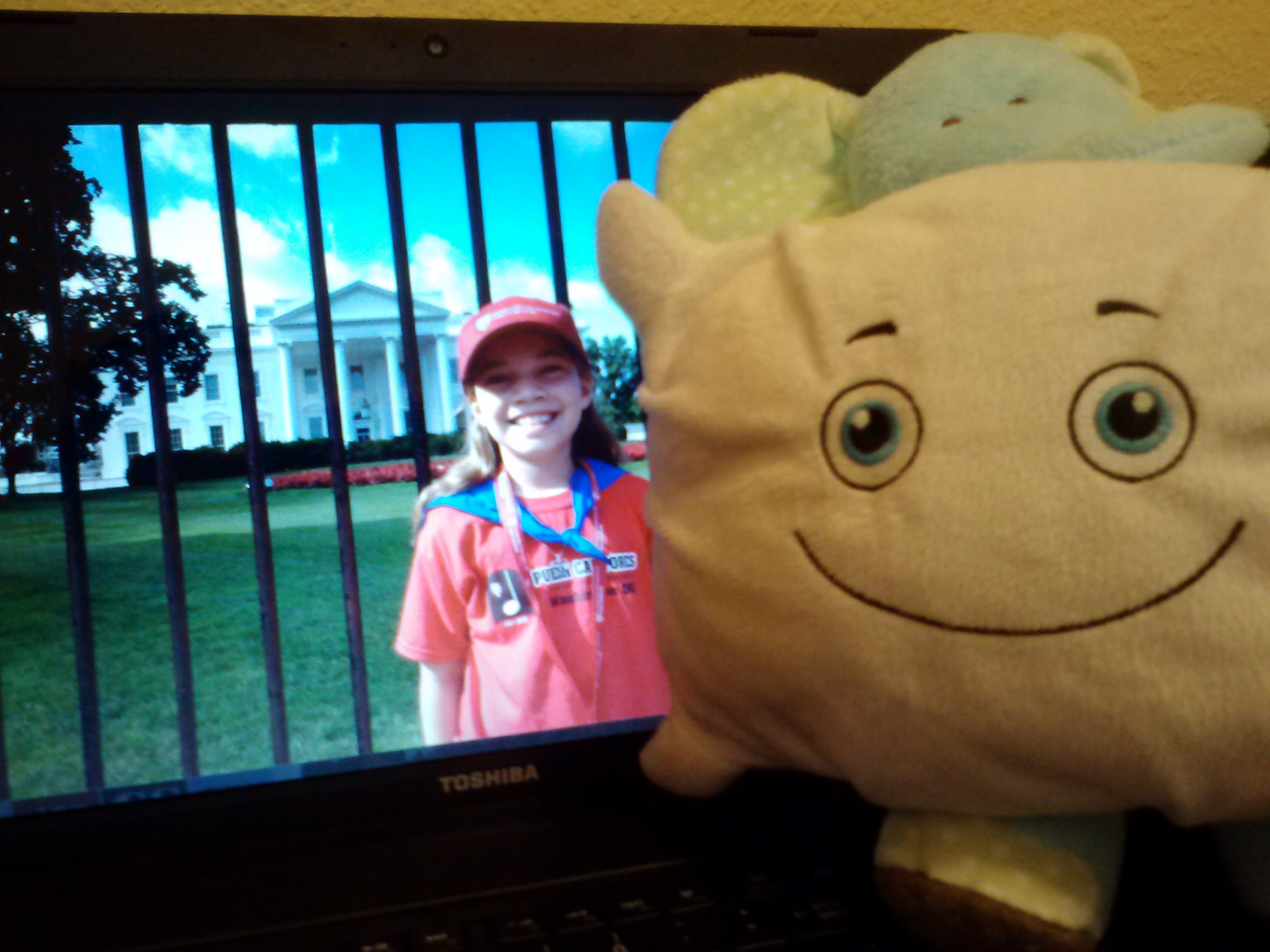McStuffy missed his sister's trip to Washington, but he has pictures!
