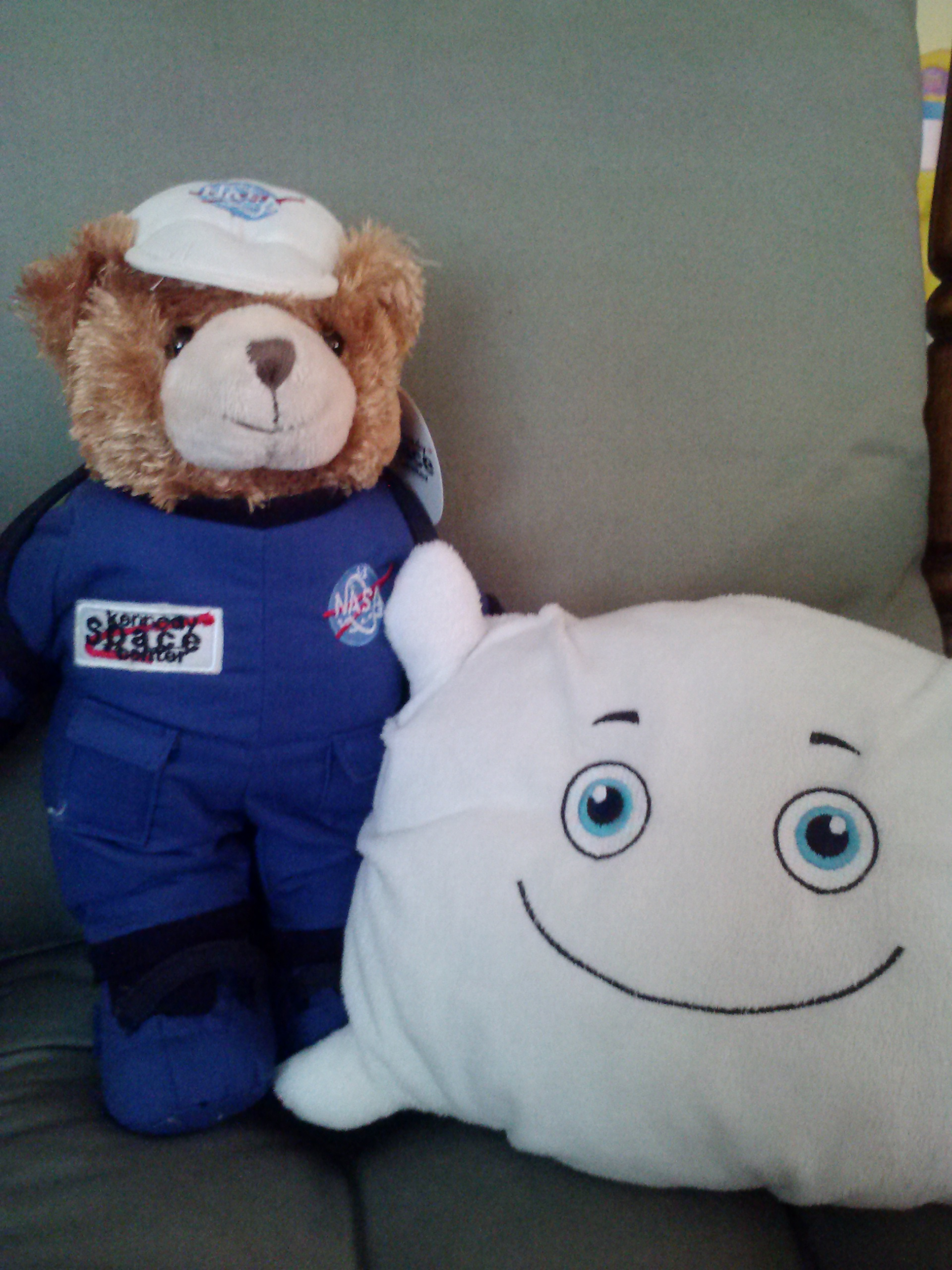 McStuffy O'Fluffigan and his new friend, Space Bear