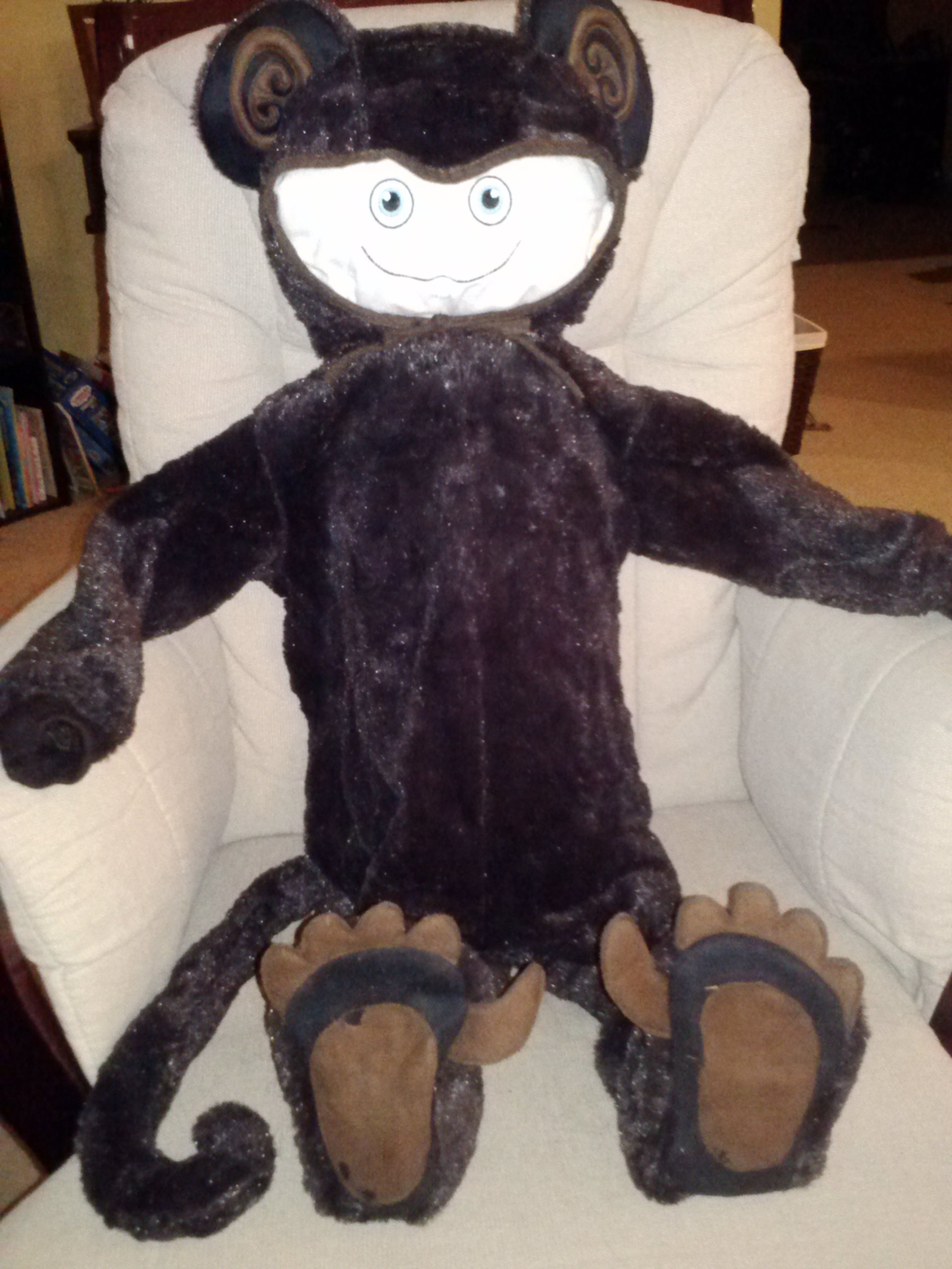 Dress-up time with McStuffy O'Fluffigan: Bear or monkey? Who can tell?