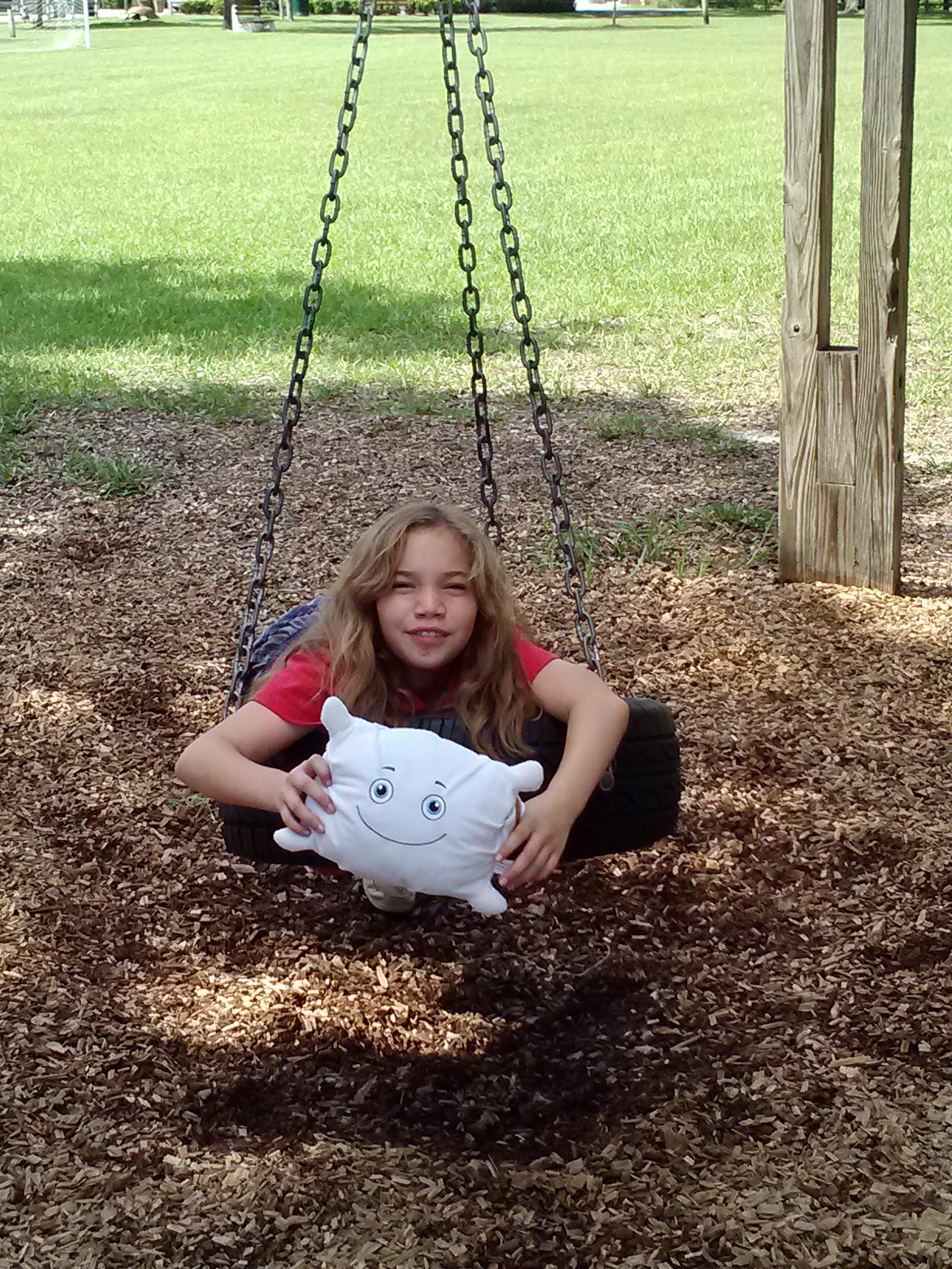 McStuffy enjoying the park