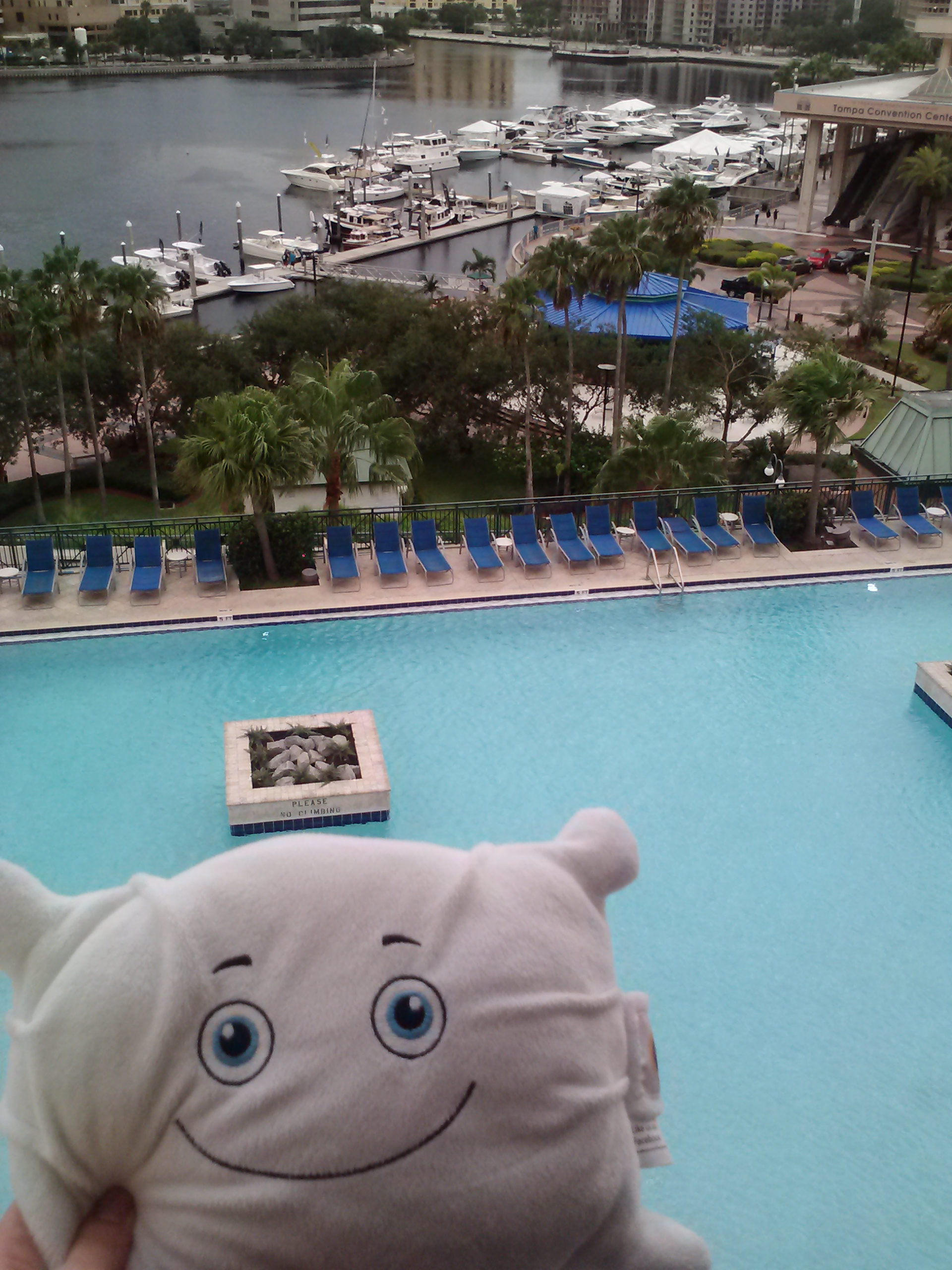Too bad we are only visiting for a few hours... The pool looks relaxing!