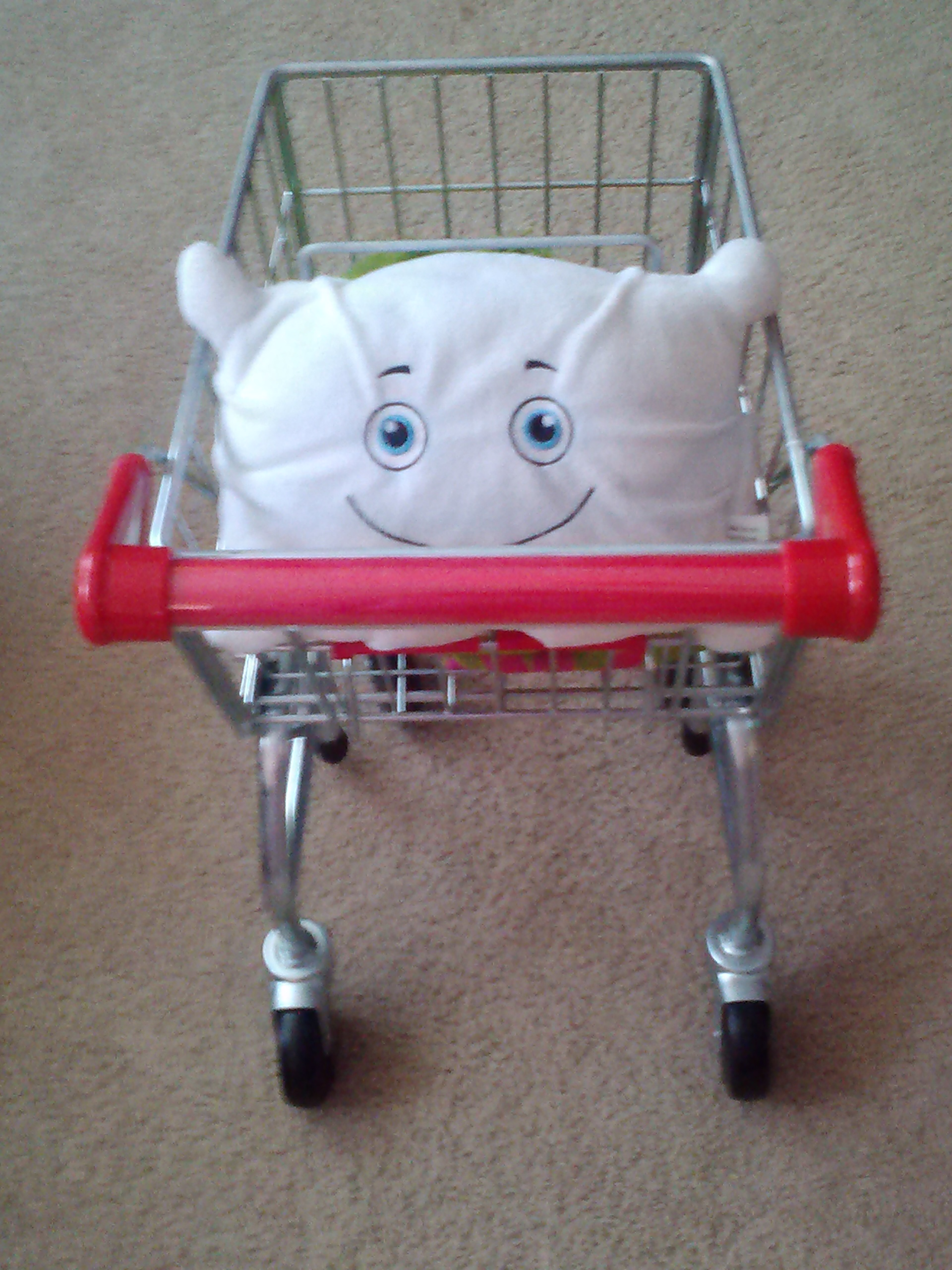 McStuffy is shopping in the living room