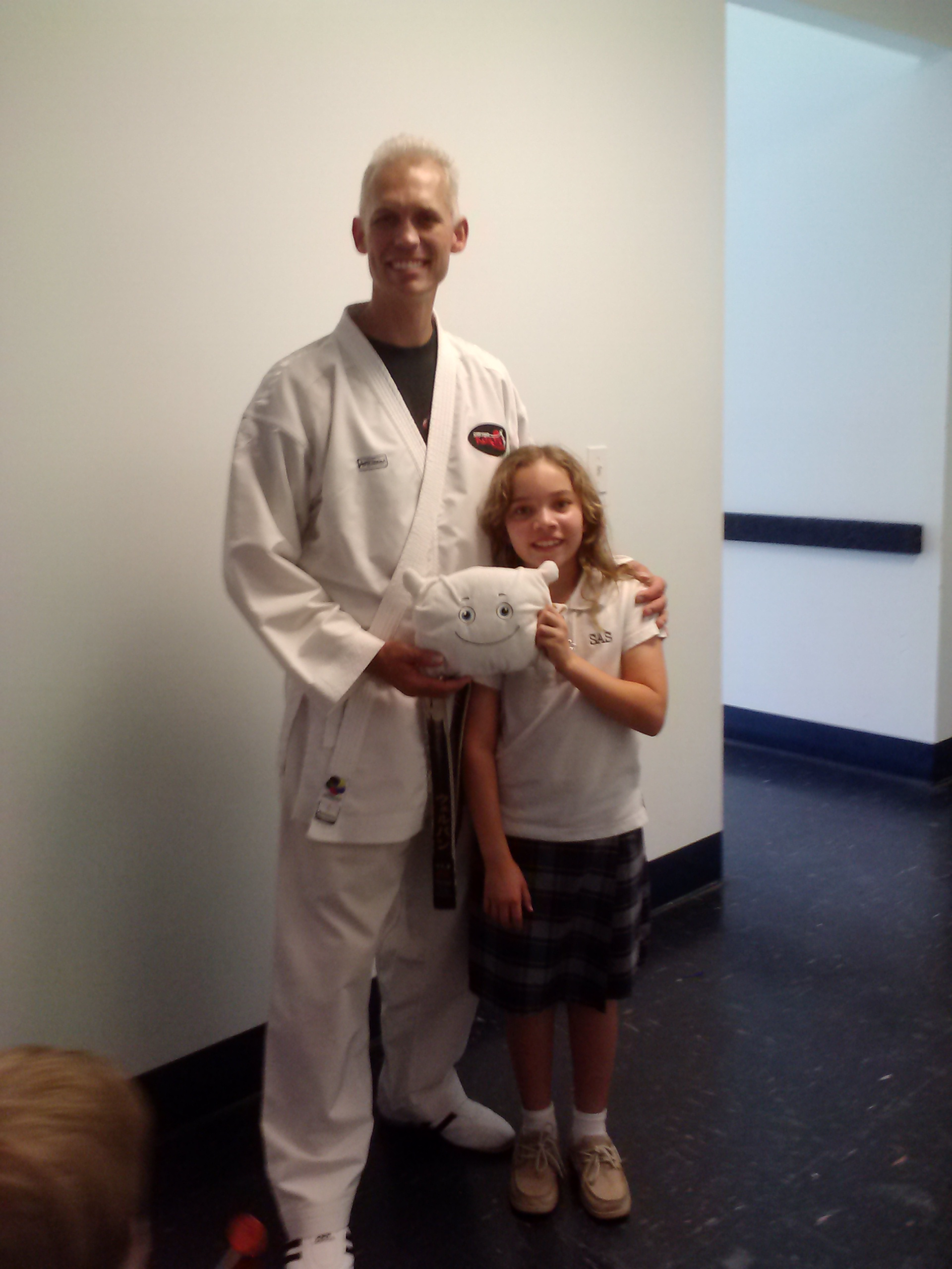 McStuffy and his big sister had their first karate class today!