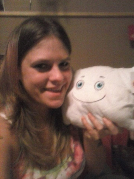 Stephanie and Pillow