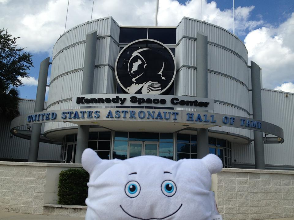 Neil Fluffstrong visiting Kennedy Space Center
