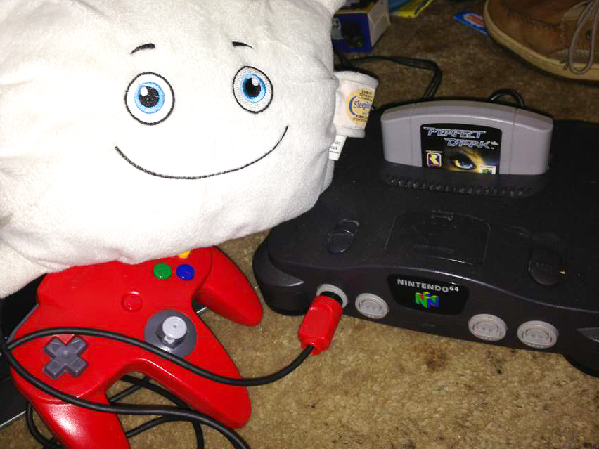 Pillow Featherbed wants to play old-school video games tonight!
