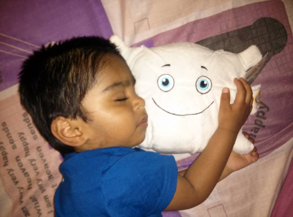 Snuggling with Ary Pillow