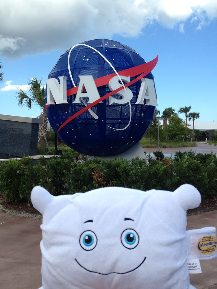 """Checking out the """"other"""" space agency, hoping he'll soon go into space himself"""