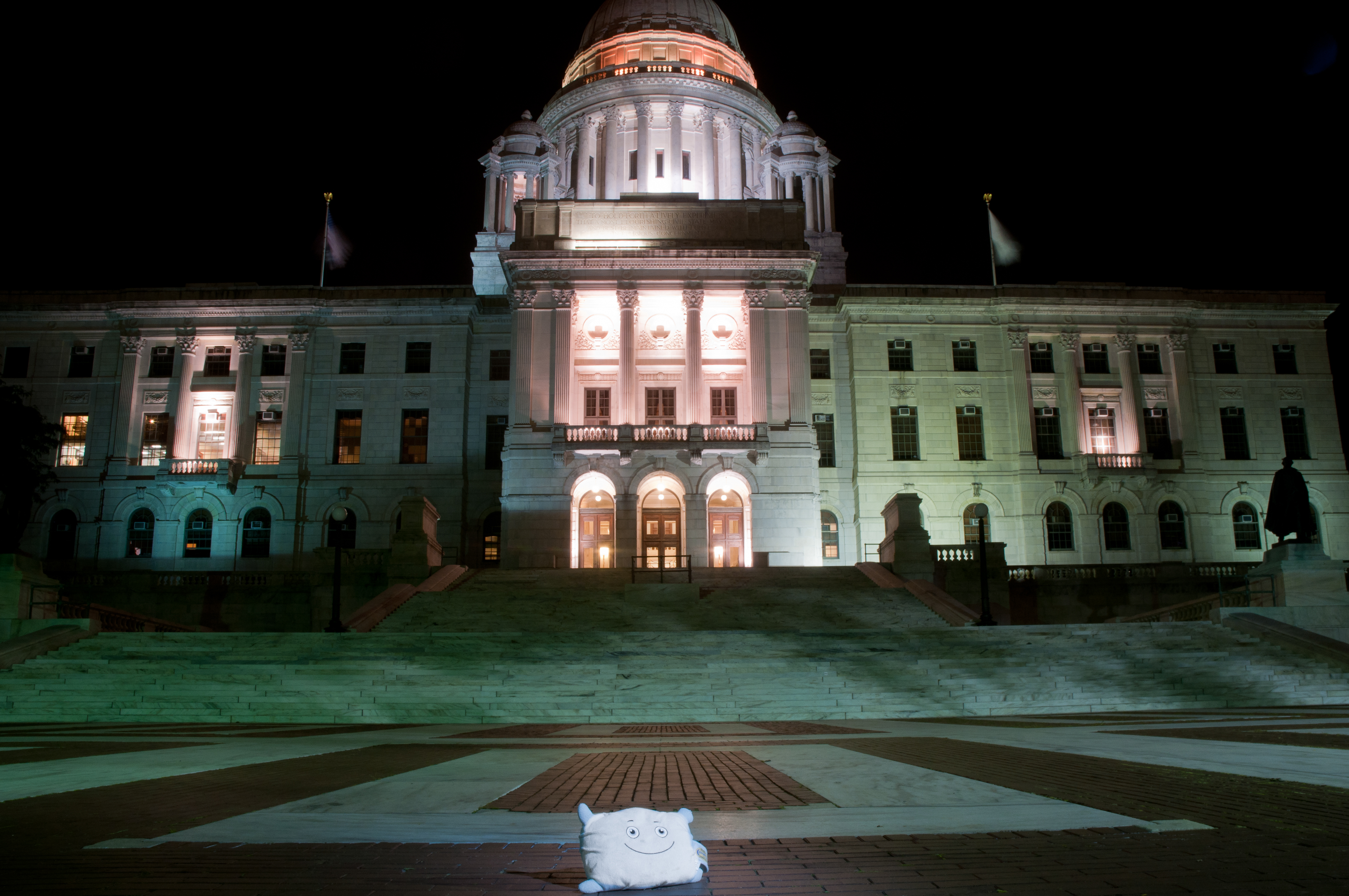 Pillow Featherbed at the Rhode Island state house!