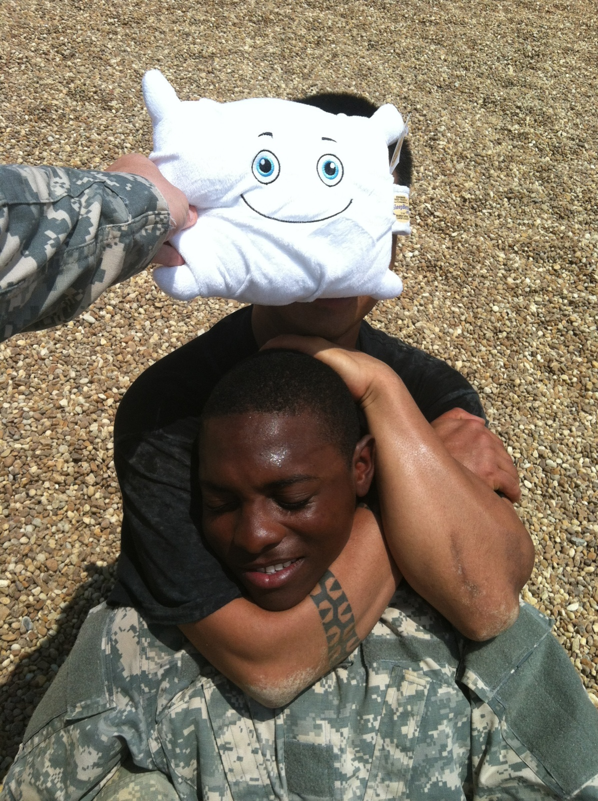 Drill Sgt. Naptime teaching combat holds