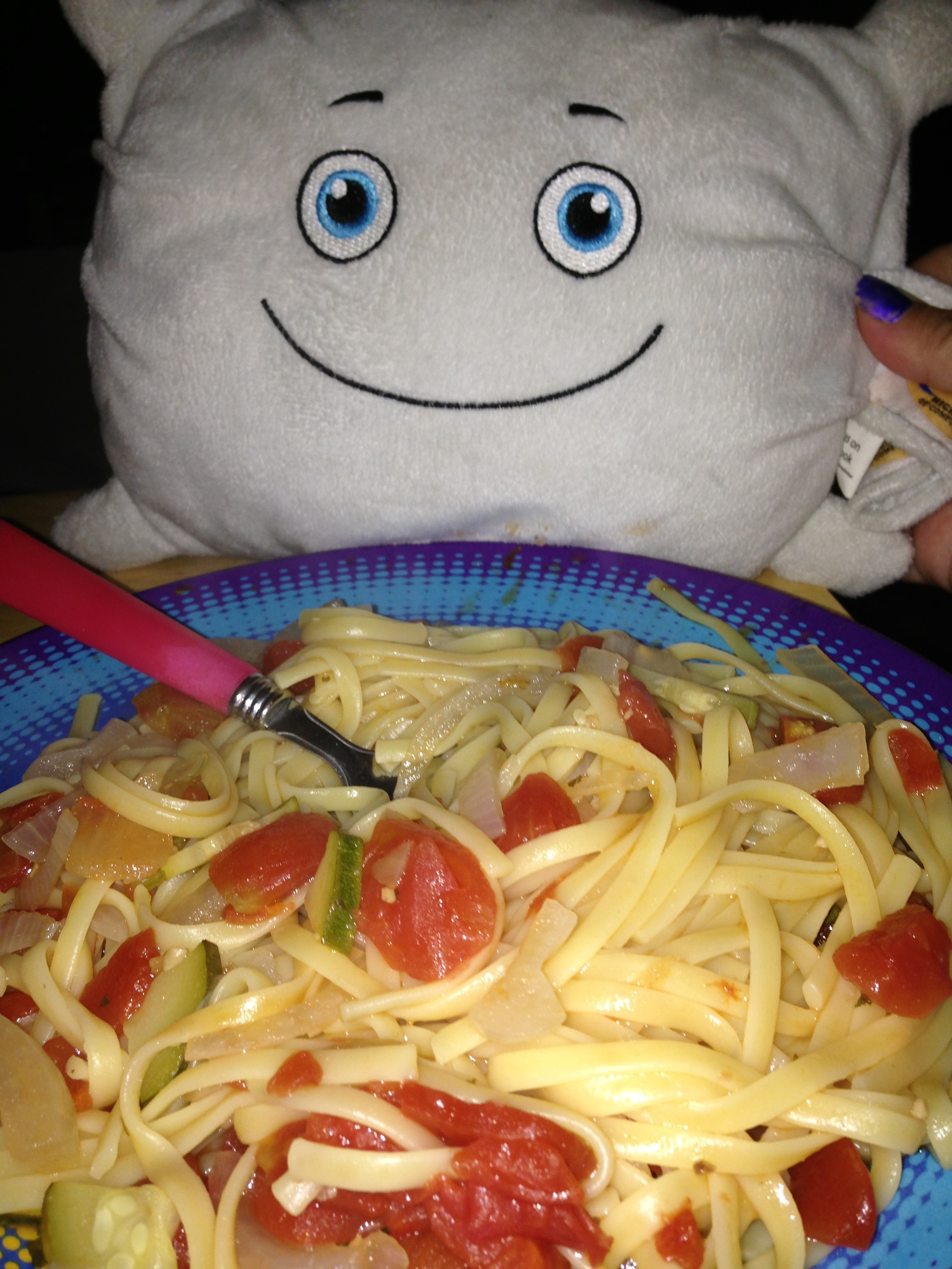 Pillow Featherbed did a great job making dinner!
