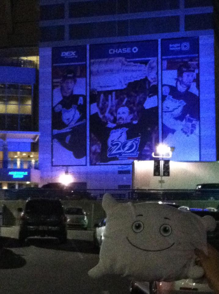 Tampa Bay Times Forum! McStuffy can't wait for the first Lightning game!