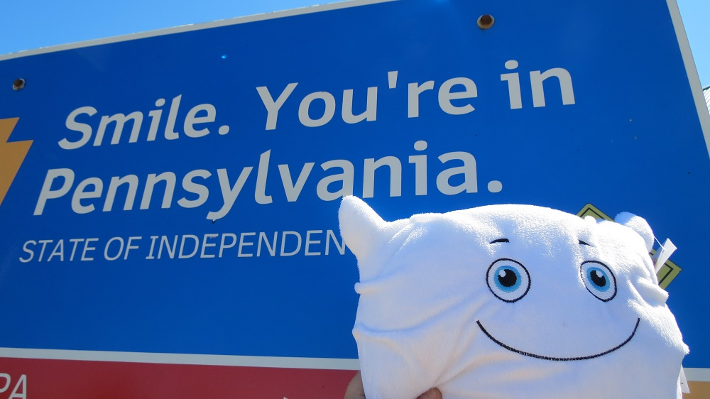 Phil O. and Mom went on a road trip. Phil wanted to stop at all the rest areas!