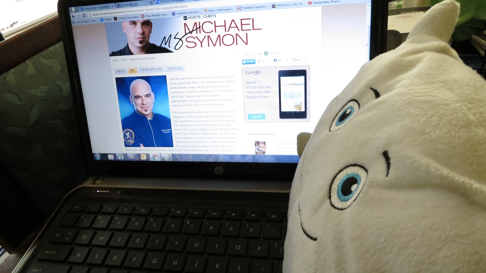 Phil O. went online after his trip to read more about Michael Symon before they met