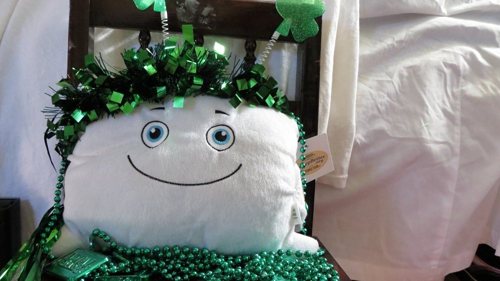 Phil O played dress up while Mom cleaned out the closet. He's ready for St. Patrick's Day!
