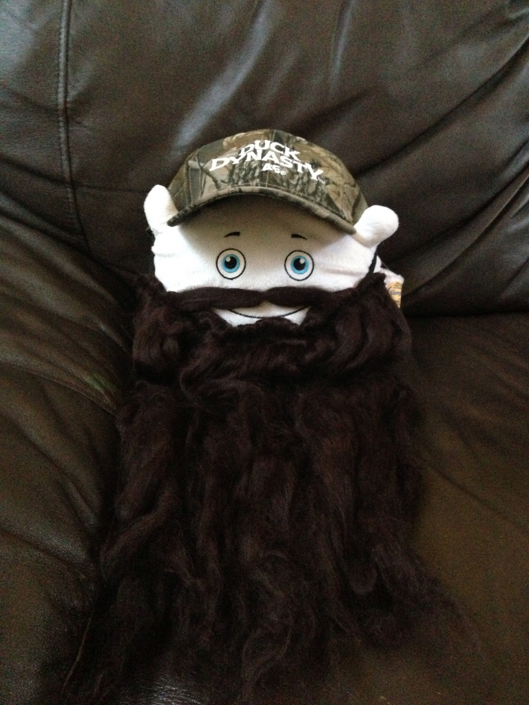 Pilwoah is ready for his favorite show - Duck Dynasty!