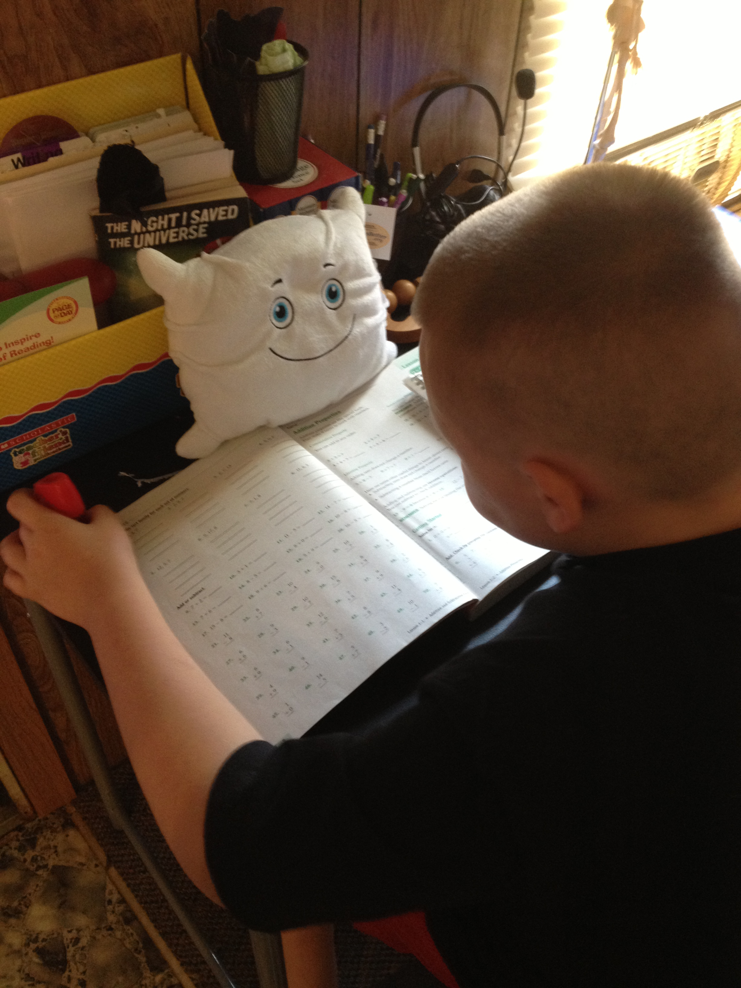 Fred Pillow goes back to school (home school, that is)