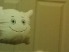 McStuffy O'Fluffigan takes a bathroom selfie