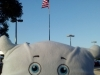 American Flag and McStuffy