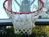 Shooting hoops! Help! McStuffy is in the net... He got a basket! 2 points!