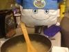 Chef Pilwoah making lunch